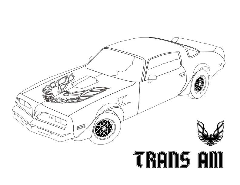 firebird 1986 cars coloring pages