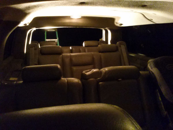 Suburban 4th row seating | Trans Am Country